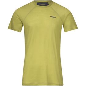 Bergans Fløyen Wool Short Sleeve Shirt Men, green oasis